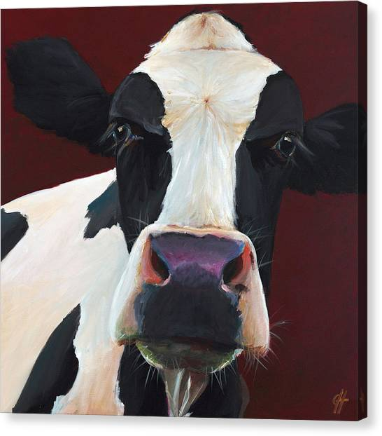 Cow Farms Canvas Print - Dolly The Holstein by Cari Humphry