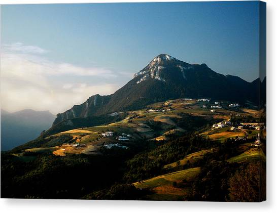 Dolomite Foothills Canvas Print by Fraser Clark