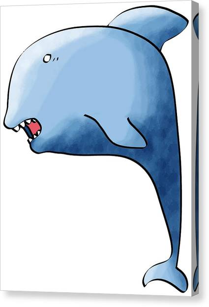 Dolphin Blue Canvas Print