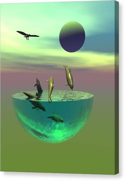 Dolphin Heaven Canvas Print