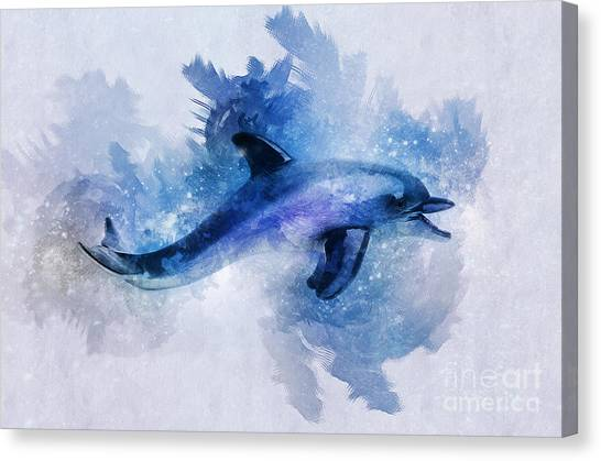 Dolphins Freedom Canvas Print