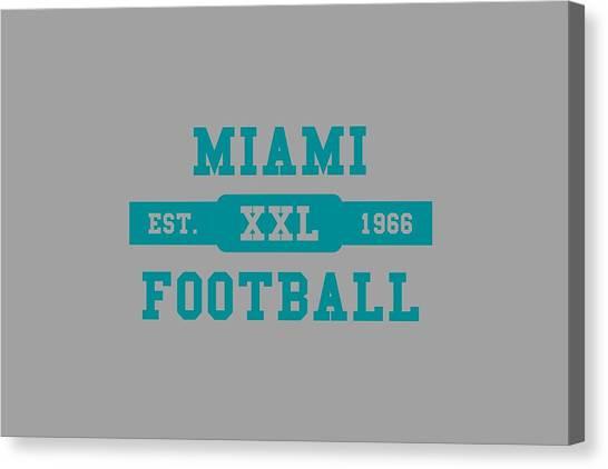 Miami Dolphins Canvas Print - Dolphins Retro Shirt by Joe Hamilton