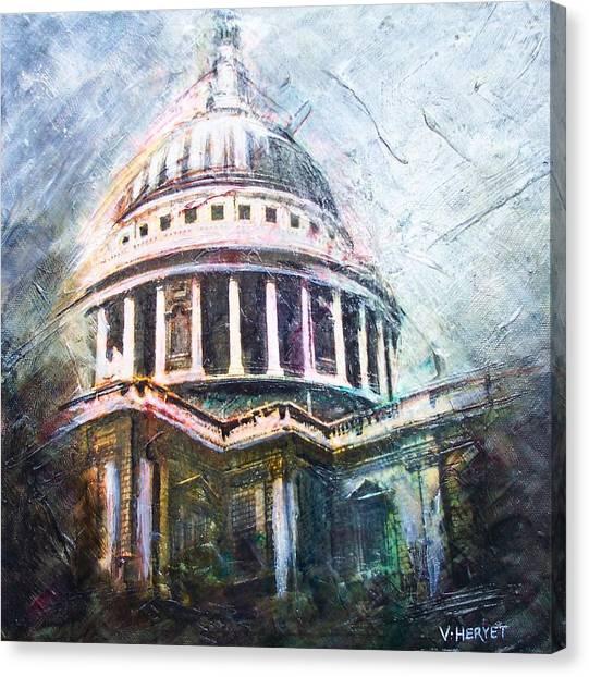 Dome Of Saint Pauls Canvas Print by Victoria Heryet