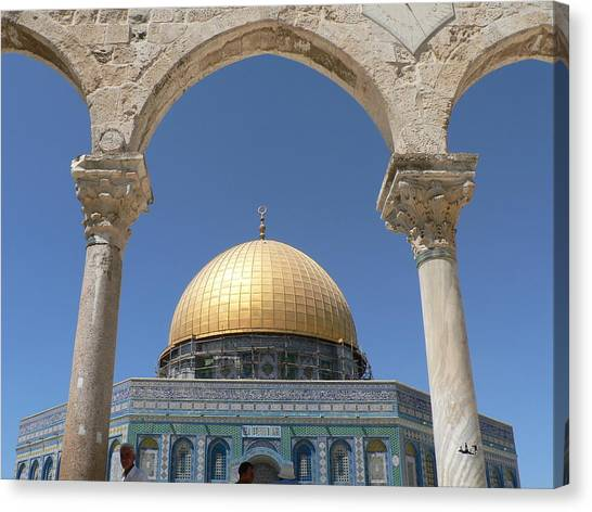 Dome Of The Rock Canvas Print by James Lukashenko
