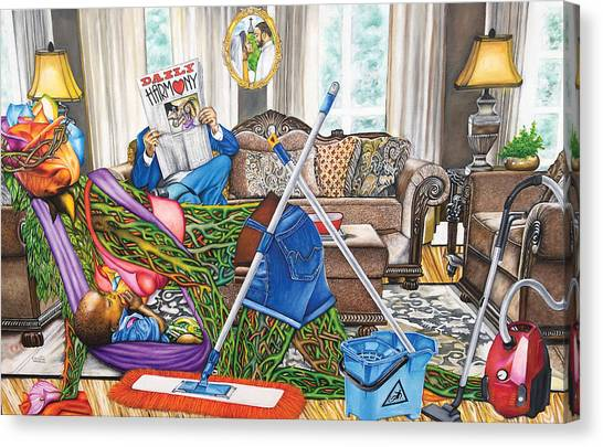 Domestic Abuse Canvas Print