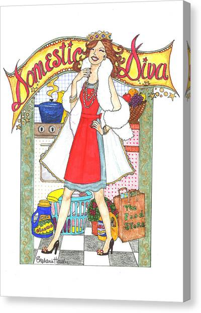 Domestic Diva Canvas Print
