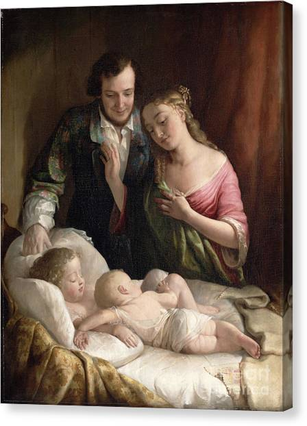 Martin Canvas Print - Domestic Happiness by Lilly Martin Spencer