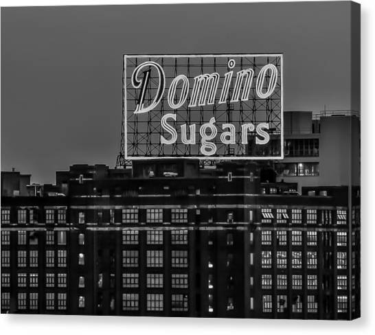 Domino Sugars Sign Canvas Print