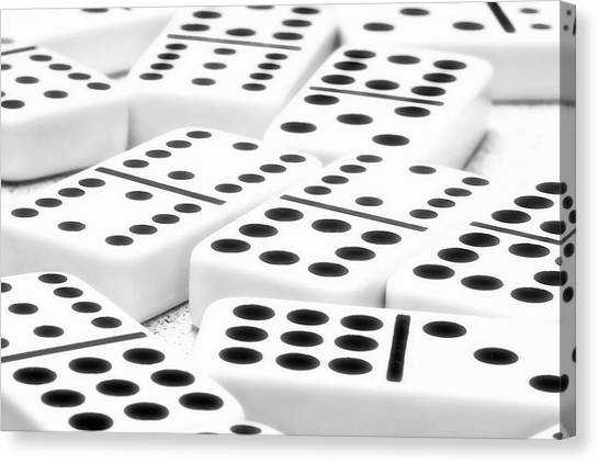 Ivory Canvas Print - Dominoes I by Tom Mc Nemar