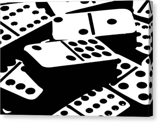 Ivory Canvas Print - Dominoes IIi by Tom Mc Nemar