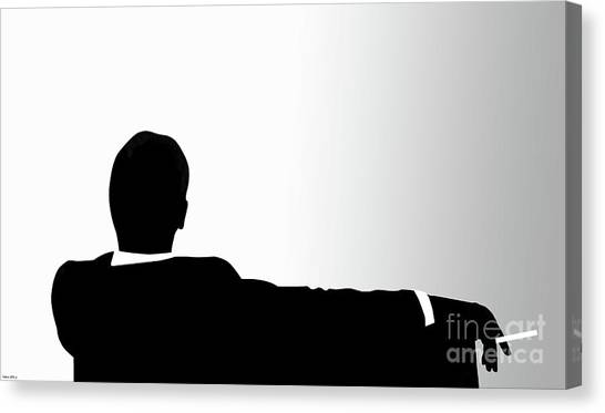 University Of Missouri Canvas Print - Don Draper, Sterling Cooper Pryce, Mad Men, Minimalist Print by Thomas Pollart