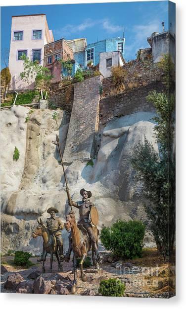 Guanajuato Canvas Print - Don Quixote Y Sancho Panza by Inge Johnsson