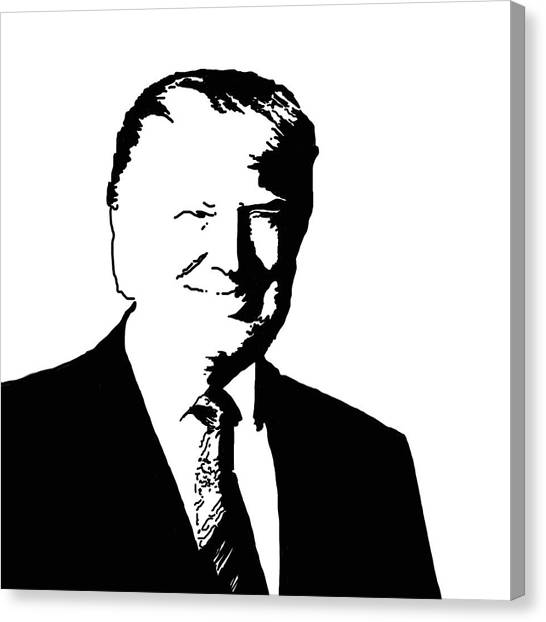 Donald Trump Canvas Print - Donald John Trump by Art Spectrum