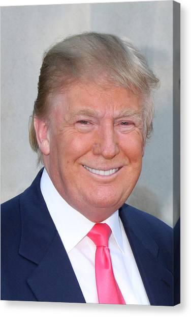 Donald Trump Canvas Print - Donald Trump 1 by Kathy Hutchins