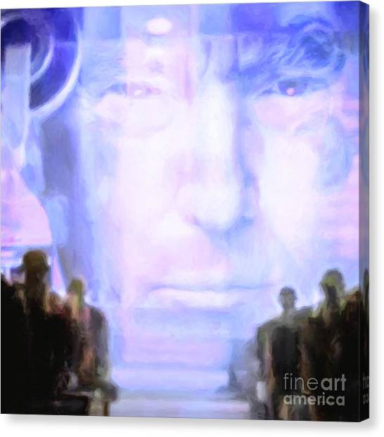 Republican Politicians Canvas Print - Donald Trump 1984 Square by Wingsdomain Art and Photography