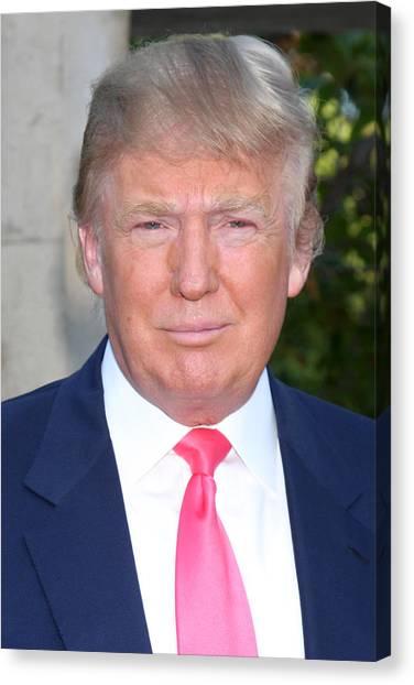 Donald Trump Canvas Print - Donald Trump 2 by Kathy Hutchins