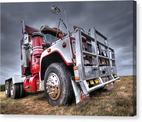 Truck Driver Canvas Print - Done Hauling by Gill Billington