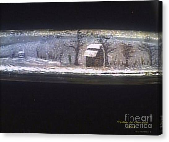 Donee Tobacco Barn In Winter  Canvas Print