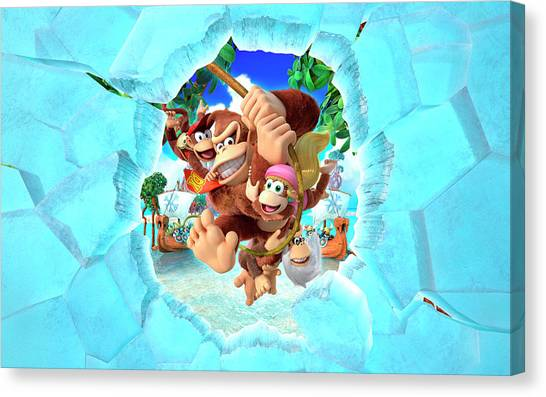 Donkey Kong Canvas Print - Donkey Kong Country Tropical Freeze by Super Lovely