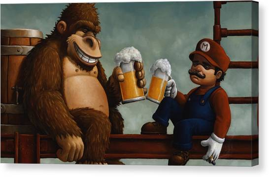 Donkey Kong Canvas Print - Donkey Kong by Maye Loeser
