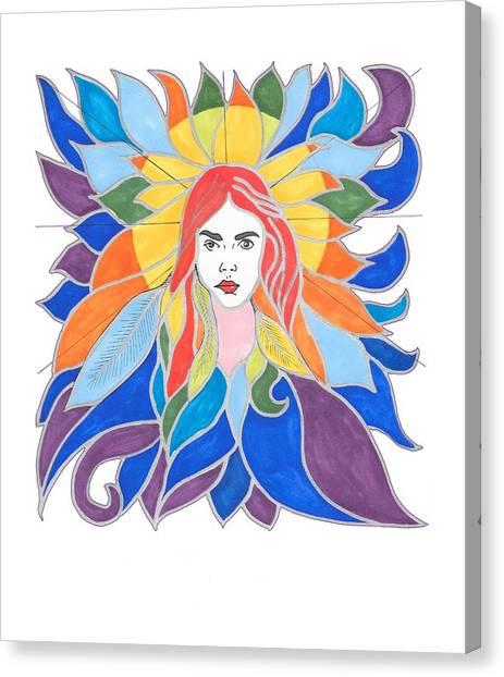 Donna Soul Portrait Canvas Print