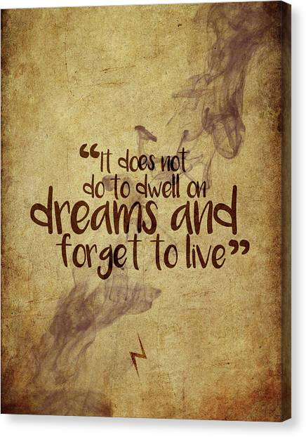 Harry Potter Canvas Print - Don't Dwell On Dreams by Samuel Whitton