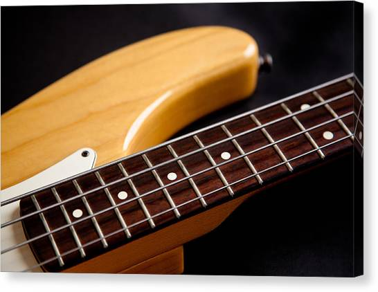 Bass Guitars Canvas Print - Dont Fret by Peter Tellone