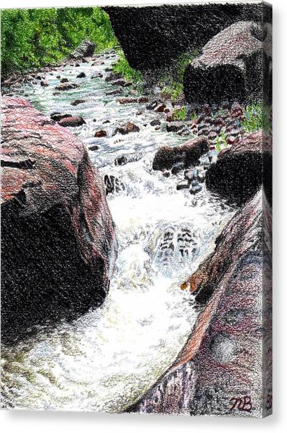 Prisma Colored Pencil Canvas Print - Don't Get Swept Away by Nils Bifano