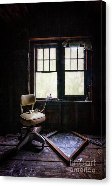 Derelict Canvas Print - Don't Hang Up by Evelina Kremsdorf