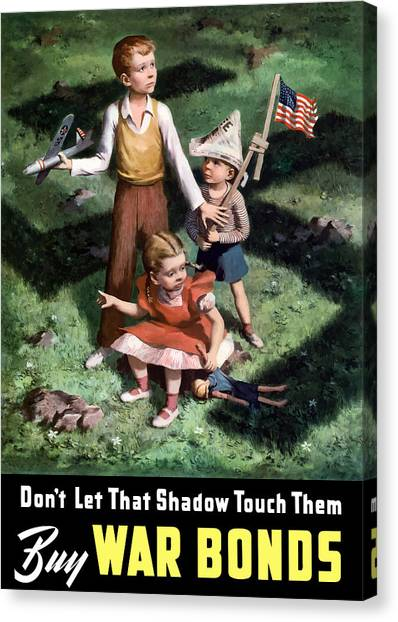 World War Ii Canvas Print - Don't Let That Shadow Touch Them by War Is Hell Store