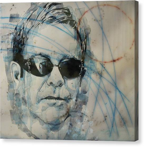 Elton John Canvas Print - Don't Let The Sun Go Down On Me  by Paul Lovering