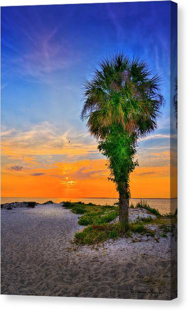 Palm Trees Sunsets Canvas Print - Don't Miss It by Marvin Spates