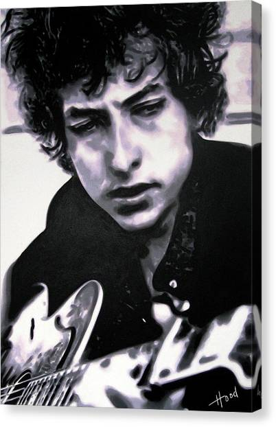 Bob Dylan Canvas Print - Dont Think Twice Its Alright by Hood alias Ludzska