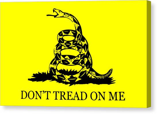 Rattlesnakes Canvas Print - Don't Tread On Me Flag by War Is Hell Store