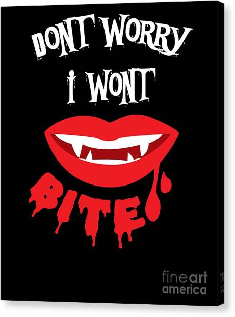 Canvas Print - Dont Worry I Wont Bite Halloween by Thomas Larch