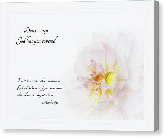 Don't Worry With Verse Canvas Print