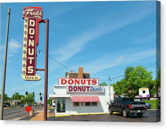 Donut Drive In Canvas Print