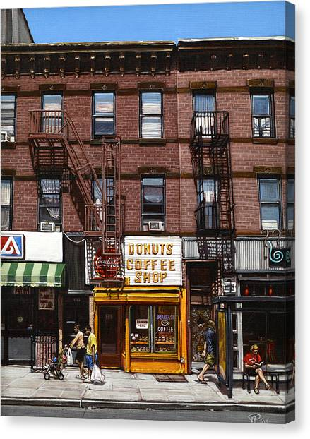 Donut Shop Canvas Print by Ted Papoulas