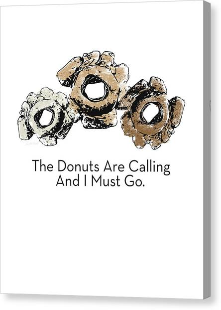 Bakeries Canvas Print - Donuts Calling- Art By Linda Woods by Linda Woods