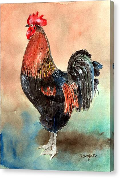 Roosters Canvas Print - Doodle by Arline Wagner