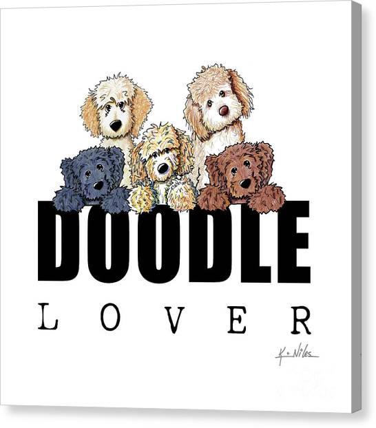 Doodle Lover Canvas Print