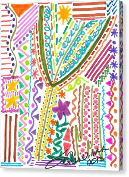 Doodles Gone Wild Canvas Print