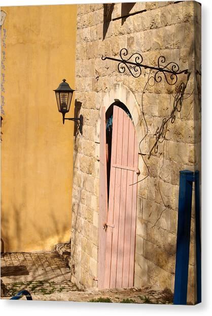 Door And Streetlight. Canvas Print