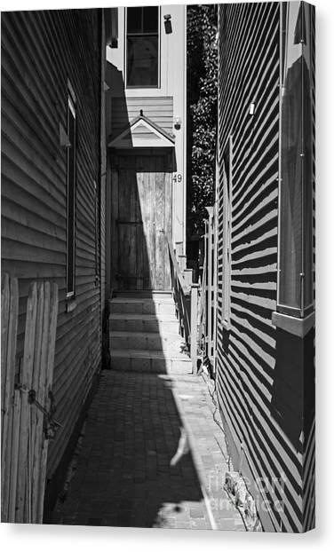 Door In An Alley Canvas Print