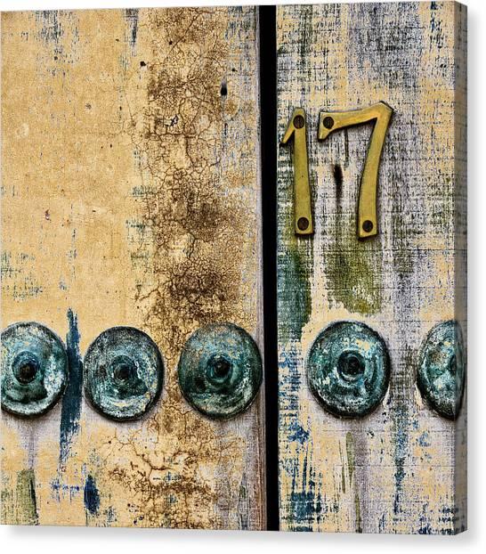 San Miguel De Allende Canvas Print - Door Number 17 In Mexico by Carol Leigh