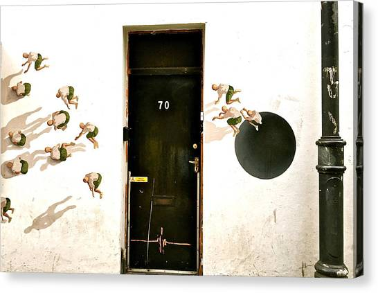 Door Seventy Street Art Canvas Print