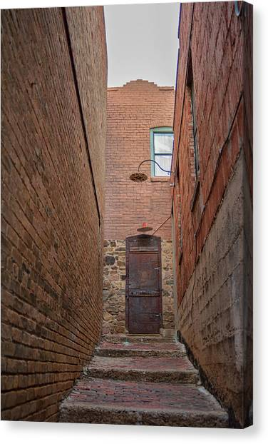 Canvas Print featuring the photograph Door To 9a by Dan McManus