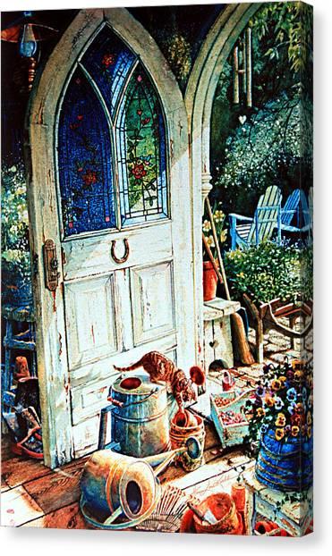 Wind Chimes Canvas Print - Door To My Heart by Hanne Lore Koehler