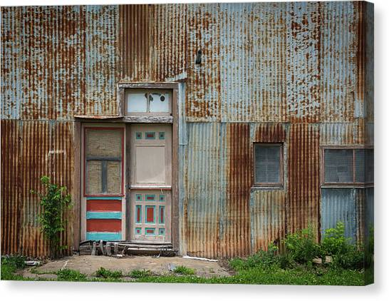 Door, Toronto, Kansas Canvas Print