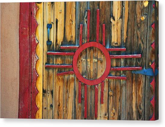 Door With Zia Canvas Print